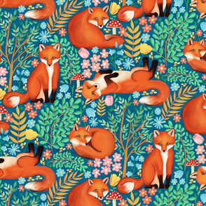 Little Foxes in a Fantasy Forest