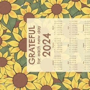 Grateful for each day 2021 calendar for Spoonflower