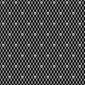 Skull Fishnet (White)