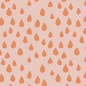 Seventies retro rain drops and spots minimal trend design fall winter neutral orange sienna peach