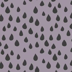 London rain drops and spots minimal trend design fall winter neutral lilac charcoal gray