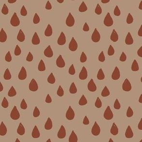 London rain drops and spots minimal trend design fall winter caramel brown copper