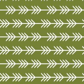 rotated arrow stripes: pantone 165-8