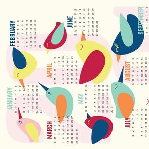 Birdie Tea Towel 2021 Calendar