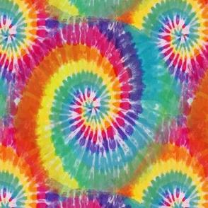 Rainbow Tie Dye swirl