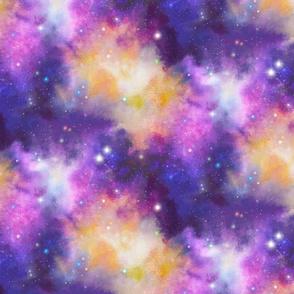 Watercolor Galaxy - Pink/Purple/Yellow - Intense