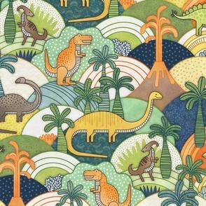 Happy Dinosaurs - Autumn Colors- Dinosaur Adventure