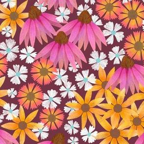 Wildflower Meadow - Maroon