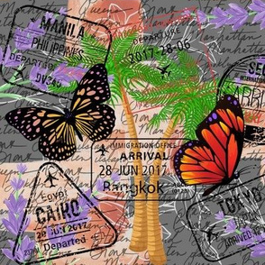 Passport Scrapbook Panel