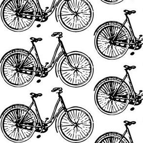 Bicycle Rush Black and White