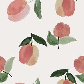 Medium peachy clean on natural white