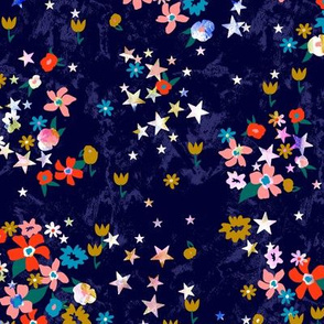 Star Floral in Navy