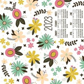 Vintage Floral 2021 Tea Towel Calendar