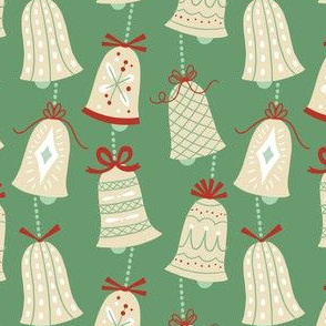Christmas Bells on Green