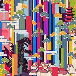 Godzilla 500 times