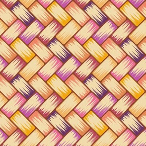 Purple Palm Weave Horiz 8in