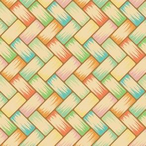 Pastel Palm Weave horiz 8in