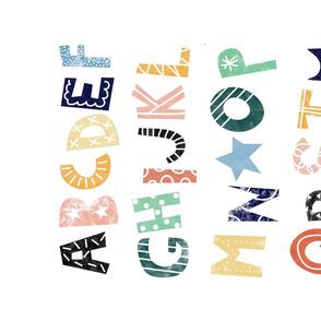 abc alphabet print - rainbow