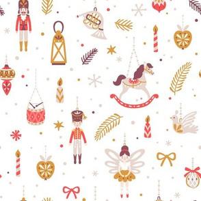 Nutcracker ballet. Christmas ornaments. Holiday kids design. Medium scale