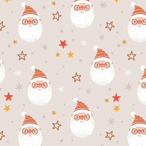 Santa Claus. Holiday Christmas design. Big scale