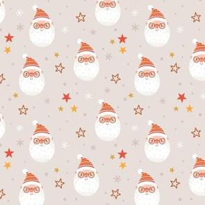 Santa Claus. Holiday Christmas design.  scale