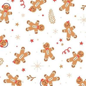 Gingerbread cookies. Gingerbread men. Medium scale