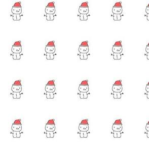 Holidays Christmas Winter Snowman Plush Plushie Softie Cut & Sew 1 inch