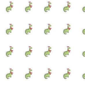 Christmas Holiday Dinosaur Pillow Plush Plushie Softie Cut & Sew 1 Inch