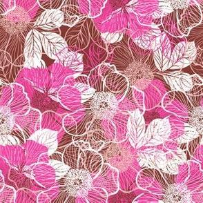 Flowers of peony - pink beige