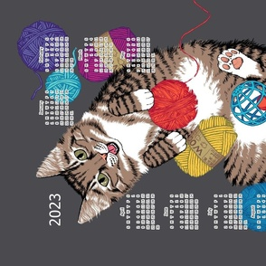 Cat and yarn calendar 2021