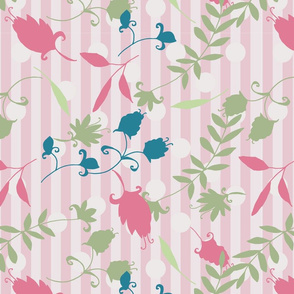 striped floral melody