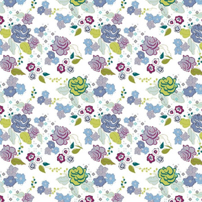 whimsical floral, ditsy floral terriconraddesigns