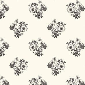 classic black and ivory floral terriconraddesigns