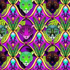 neon jungle jaguar ogee SMALL SCALE