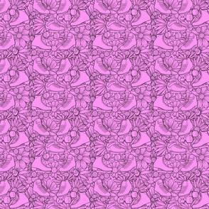 Pink Floral Roller Skates