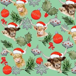 christmas highland print