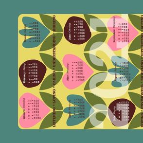 2021 Tea Towel Retro Calendar: Intentions