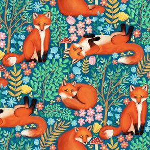 Little Foxes in a Fantasy Forest - Small Scale