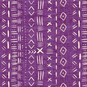 Mudcloth Purple Rustic Aztec
