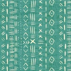 Mudcloth Teal Rustic Aztec