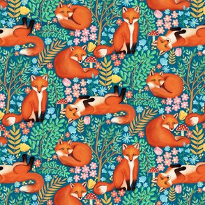 Little Foxes in a Fantasy Forest - Tiny Scale