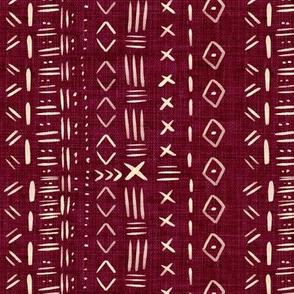 Mudcloth Burgundy Rustic Aztec