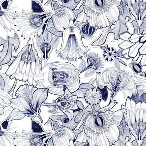 half cut flowers on white