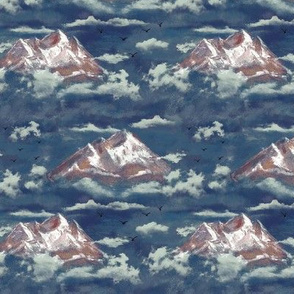 Mountains in the Clouds Navy MED