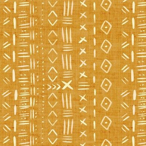 Mudcloth Mustard and White Rustic Aztec