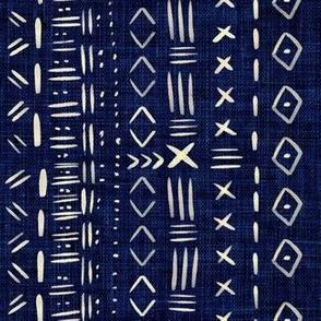 Mudcloth Blue Rustic Aztec