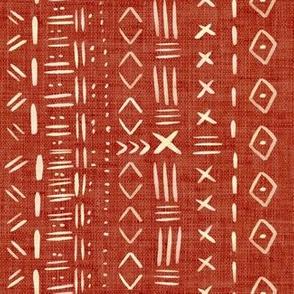 Mudcloth Burnt Orange Rustic Aztec