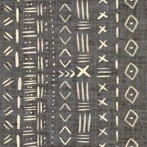 Mudcloth Grey Rustic Aztec