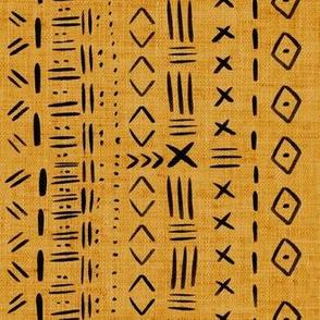 Mudcloth Mustard Rustic Aztec