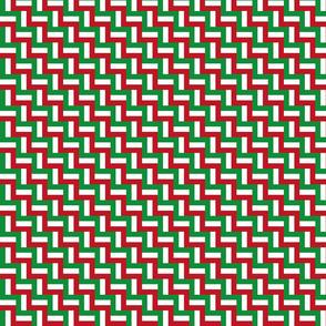 Hidden flag of italy - tiny scale